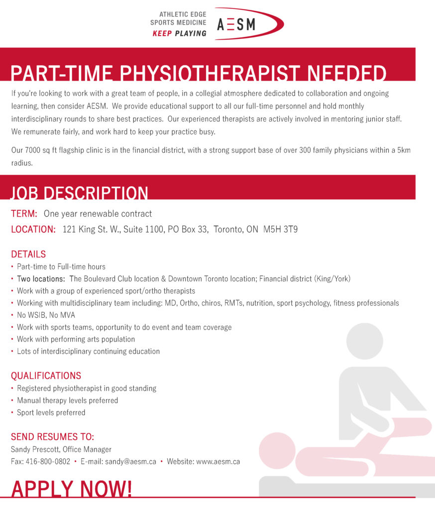 Join Our AESM Team - Athletic Edge Sports Medicine